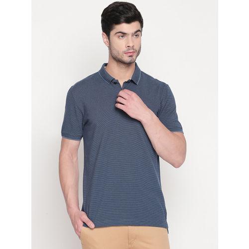Urban Ranger by pantaloons Men Navy Blue Solid Polo Collar T-shirt