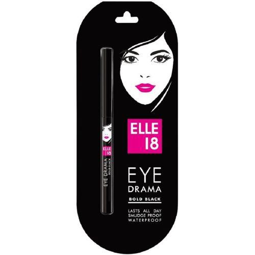 Elle 18 Eye Drama Kajal, Bold Black(Bold Black, 0.35 g)