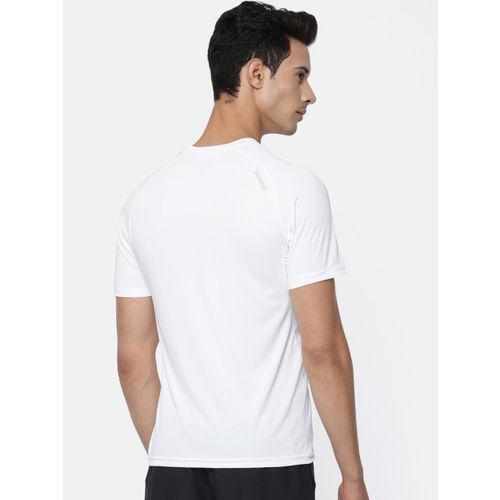 Wildcraft Men White Solid Round Neck T-shirt