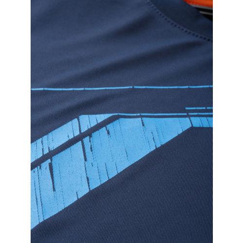 Wildcraft Men Navy Blue Printed Round Neck T-shirt