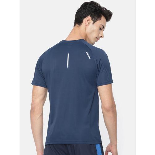 Wildcraft Men Navy Blue Solid Round Neck T-shirt