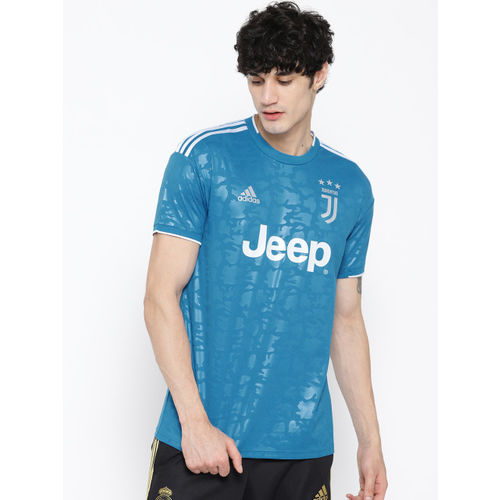 ADIDAS Men Blue & White Printed Juventus Third Jersey