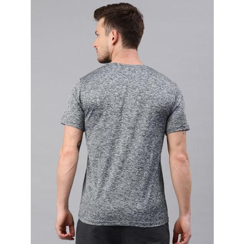 HRX by Hrithik Roshan Men Grey Melange Solid Men Rapid Dry Running T-shirts