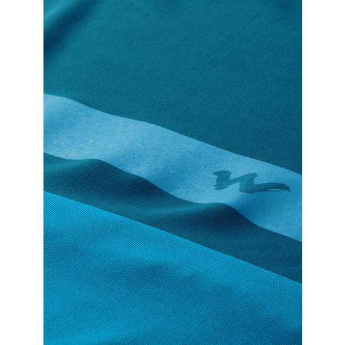Wildcraft Men Teal Blue Solid Round Neck T-shirt