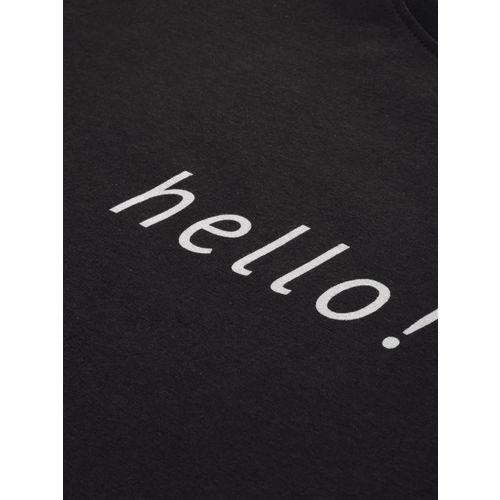 ether Men Black Printed Round Neck T-shirt