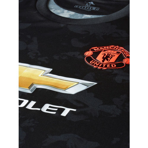 ADIDAS Men Black Printed Manchester United FC Third Jersey