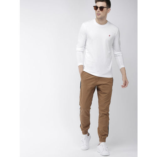 Denizen From Levis Men White Solid Round Neck T-shirt