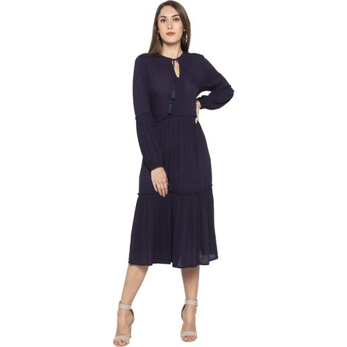 Globus Blue Polyester A-line Dress
