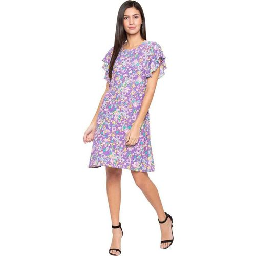 Globus Women Fit and Flare Purple Dress