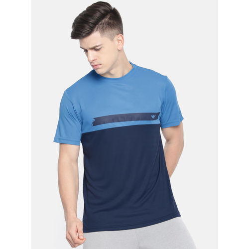 Wildcraft Men Navy Blue Solid Round Neck T-shirt