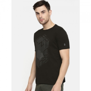 Proline Active Men Black Printed Round Neck T-shirt
