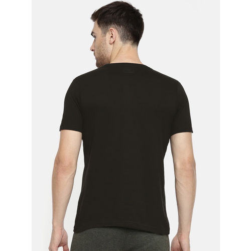 Proline Active Men Black Printed Round Neck T-shirt