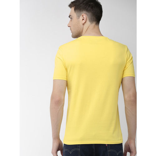 Denizen From Levis Men Yellow Printed Round Neck T-shirt