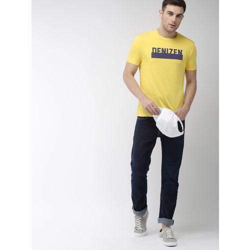 Denizen From Levis Men Yellow Printed Round Neck T-shirt