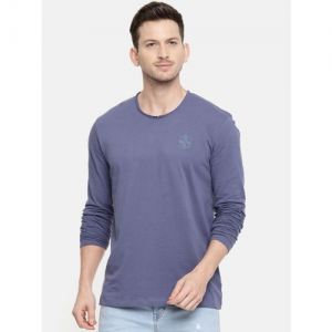 Being Human Clothing Men Blue Solid Round Neck T-shirt
