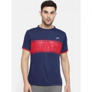 Proline Active Men Blue Colourblocked Round Neck T-shirt