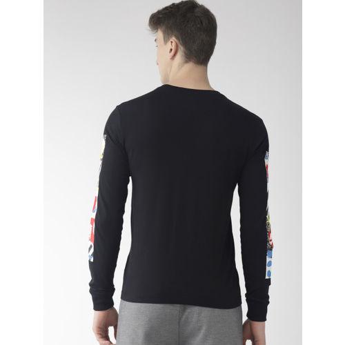 Nike Men Black Printed CREW SSNL4 Standard Fit Sports T-shirt