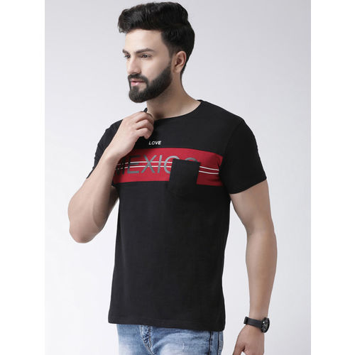 COBB Men Black & Red Printed Round Neck T-shirt