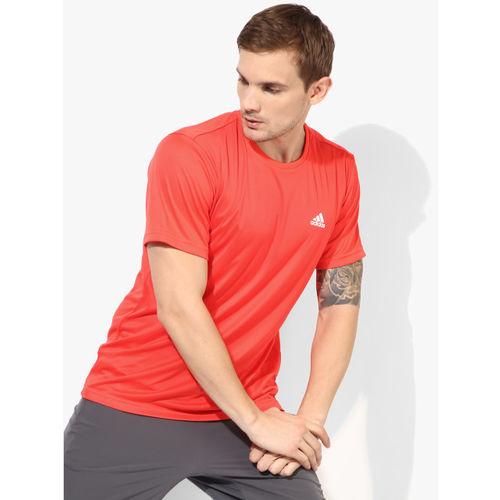 ADIDAS Men Approach Coral Orange Tennis Round Neck T-Shirt