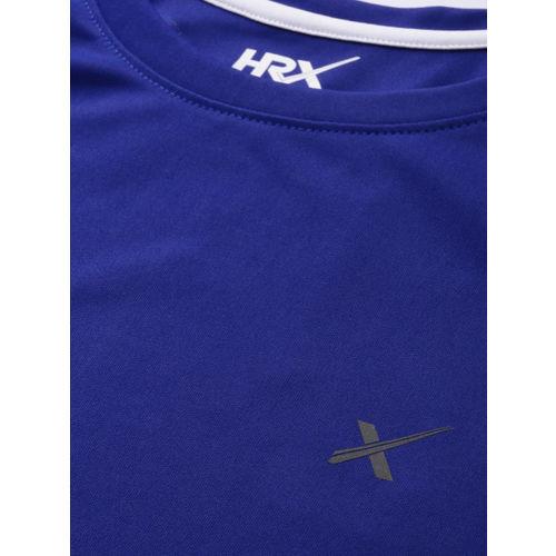 HRX by Hrithik Roshan Men Blue Printed Rapid-dry Training Tank