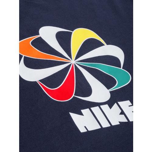Nike Men White Printed CLASSICS Loose Fit Sports T-shirt