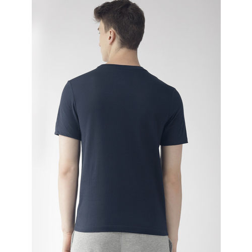 Nike Men Navy Blue Printed Standard Fit A.I.R. COLLECT DRI-FIT Running T-shirt