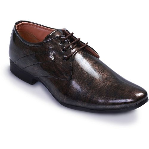 Swanwood Colorfull patent shoes Lace Up For Men(Brown, Black)