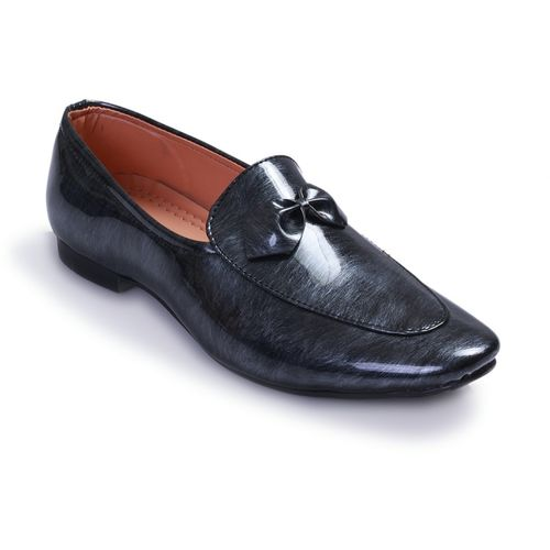 Swanwood Colorfull patent loafer Loafers For Men(Black, Grey)