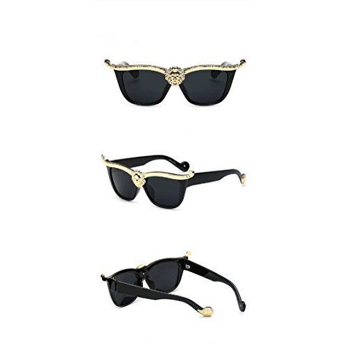 THE LONDON STORE Women's Black Cat-Eye Sunglasses