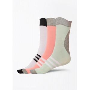 Adidas Men's, Women's Striped Quarter Length Socks