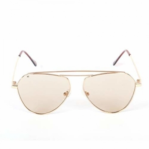 FCUK Mirrored Oval Women's Sunglasses - (FC 7383 C2 S|58|Gold Color Lens)