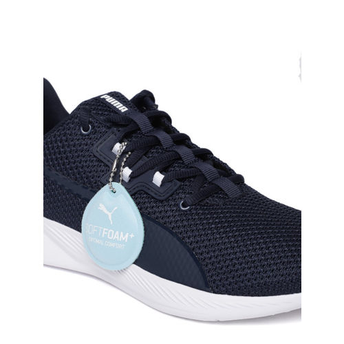 Puma Unisex Navy Blue Solid Tishatsu SoftFoam +Running Shoes