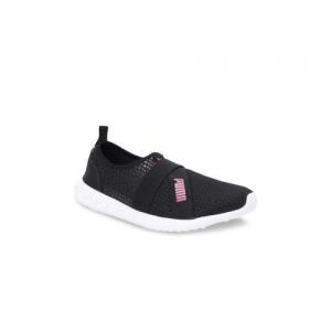 Puma Unisex Black Mesh Mid-Top Dwane Slip On Running Shoes