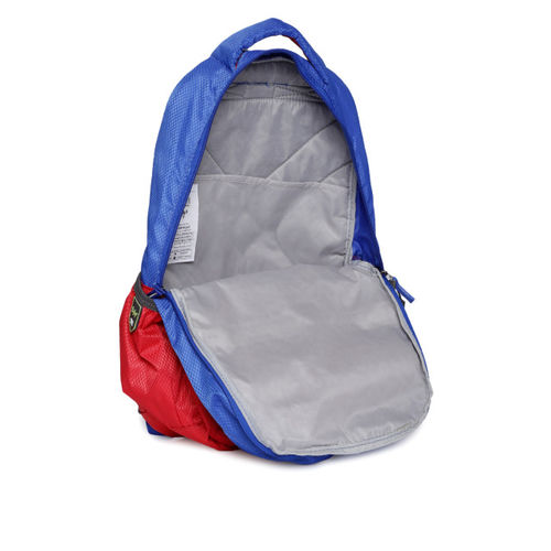 Skybags Unisex Red & Blue Colourblocked Backpack