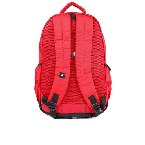 Fastrack Men Red Solid Backpack