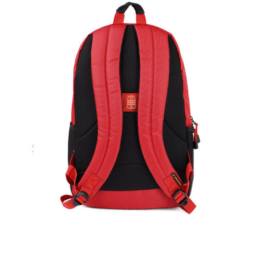 Fastrack Men Red & Black Graphic Backpack