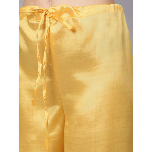 Ishin Yellow Embroidered Unstitched Dress Material