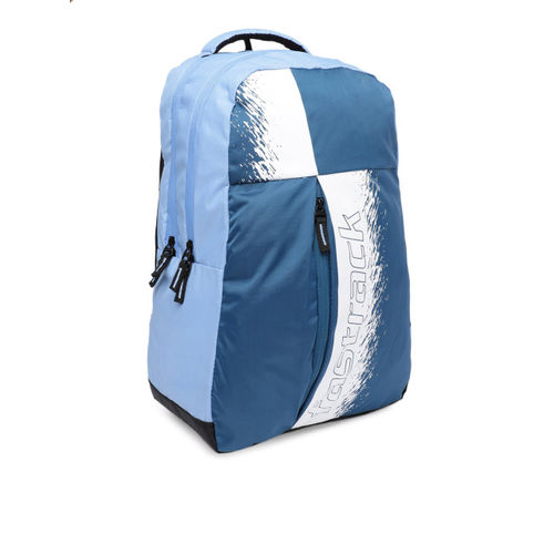 Fastrack Men Blue & White Brand Logo Backpack