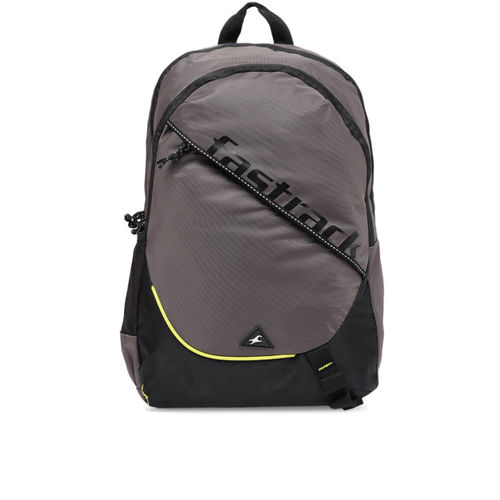 Fastrack Men Grey Brand Logo Backpack