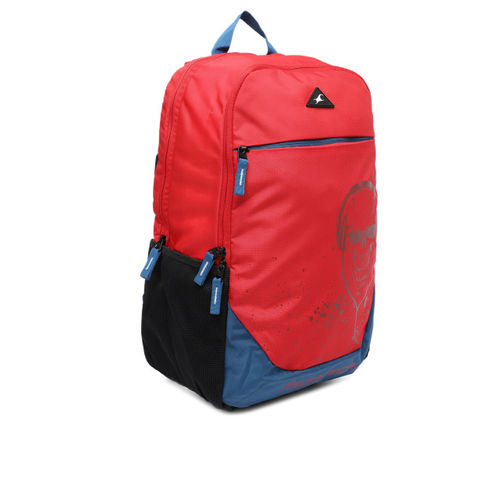 Fastrack Men Red Graphic Backpack
