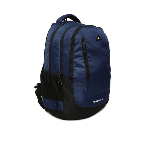 Fastrack Unisex Navy Blue Solid Backpack