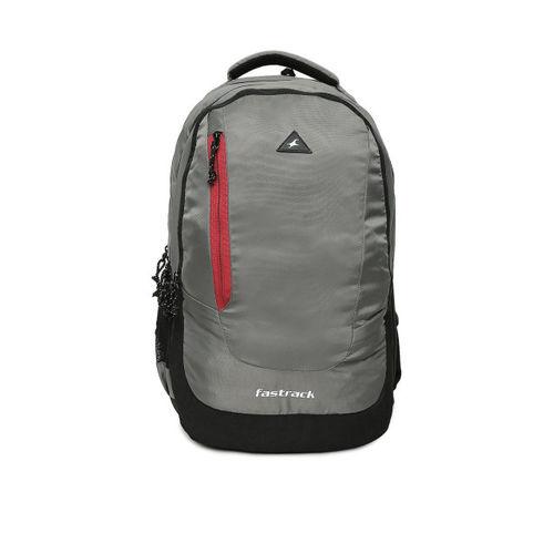 Fastrack Unisex Grey Solid Backpack