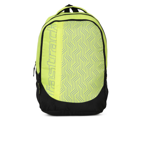 Fastrack Men Yellow & Black Geometric Print Backpack