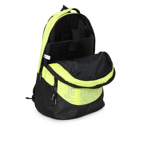 Fastrack Men Yellow & Black Geometric Print Backpack