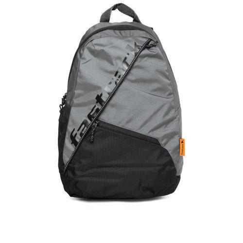 Fastrack Men Grey & Black Colourblocked Backpack
