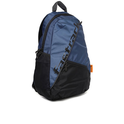 Fastrack Men Blue & Black Colourblocked Backpack