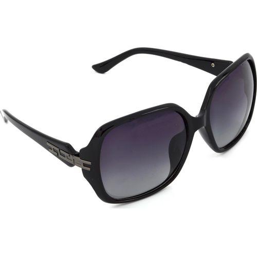 Hrinkar Polarized Rectangular Sunglasses(Grey)