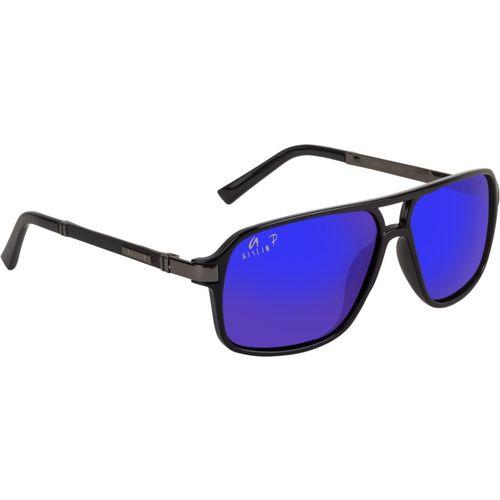 Aislin Rectangular Sunglasses(Blue, Violet)
