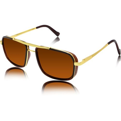 fashion sunglasses Rectangular Sunglasses(Brown)