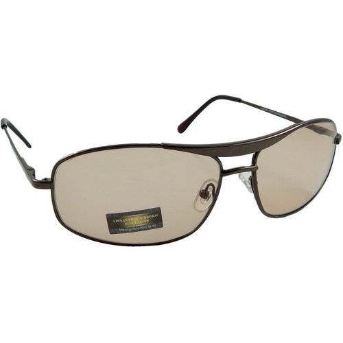 Libnan Photochromatic Rectangular Sunglasses(Clear, Brown)